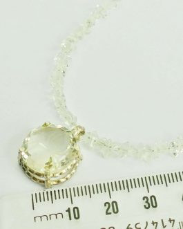 Herkimer Diamond Necklace with Spider Pendent – Silver Clasp