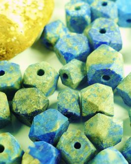 Lapis Lazuli Hexagonal Cut Beads with Holes