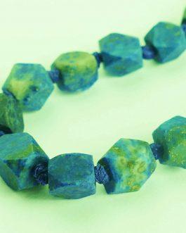 Hexagonal Lapis Lazuli Necklace